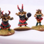 Three Dwarf Bloodbowl Ladies