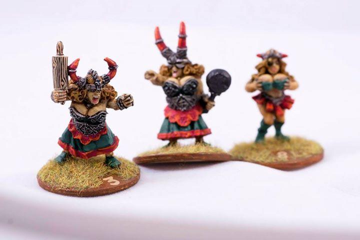 Three Dwarf Bloodbowl Ladies