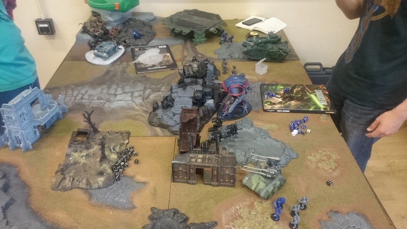 A game of 40k 7th, Imperial vs Chaos