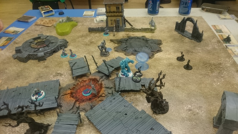 A Malifaux Game in progress